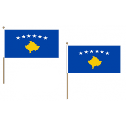 Kosovo Fabric National Hand Waving Flag Flags - United Flags And Flagstaffs