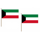 Kuwait Fabric National Hand Waving Flag Flags - United Flags And Flagstaffs