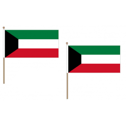 Kuwait Fabric National Hand Waving Flag