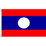 Laos National Flag - Budget 5 x 3 feet Flags - United Flags And Flagstaffs