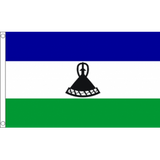 Lesotho National Flag - Budget 5 x 3 feet Flags - United Flags And Flagstaffs