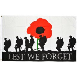 Lest We Forget Flag (Army) - British Military Flags - United Flags And Flagstaffs