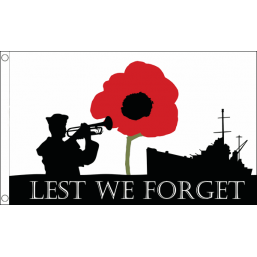 Lest We Forget Flag (Navy) - British Military Flags - United Flags And Flagstaffs