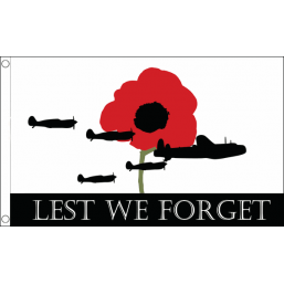 Lest We Forget Flag (Air Force) - British Military & Remembrance Flags - United Flags And Flagstaffs
