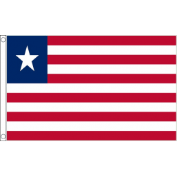 Liberia National Flag - Budget 5 x 3 feet Flags - United Flags And Flagstaffs