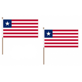 Liberia Fabric National Hand Waving Flag
