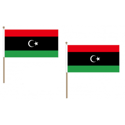 Libya Fabric National Hand Waving Flag Flags - United Flags And Flagstaffs