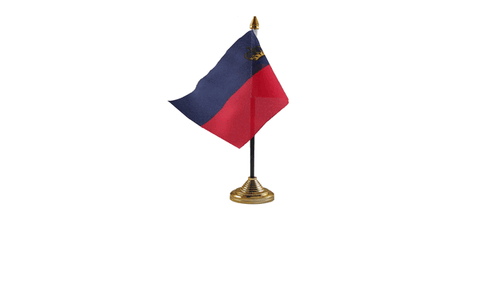 Lichenstein Table Flag Flags - United Flags And Flagstaffs
