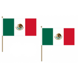 Mexico Fabric National Hand Waving Flag Flags - United Flags And Flagstaffs