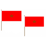 Morocco Fabric National Hand Waving Flag Flags - United Flags And Flagstaffs