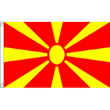 Macedonia National Flag - Budget 5 x 3 feet Flags - United Flags And Flagstaffs
