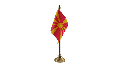 Macedonia Table Flag