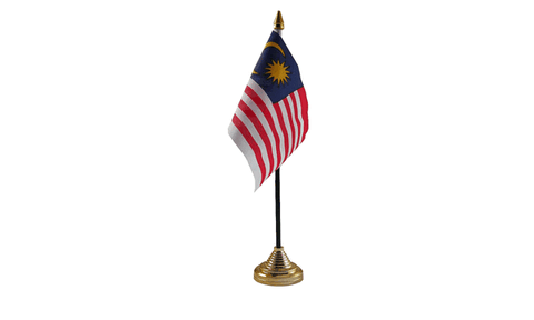 Malaysia Table Flag Flags - United Flags And Flagstaffs