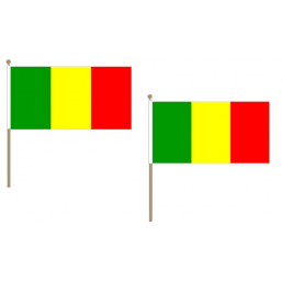 Mali Fabric National Hand Waving Flag Flags - United Flags And Flagstaffs