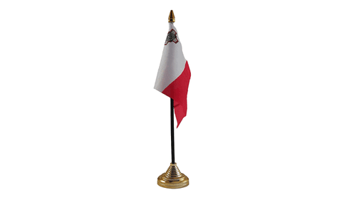 Malta Table Flag Flags - United Flags And Flagstaffs