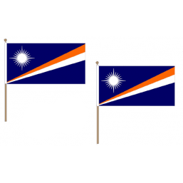 Marshall Islands Fabric National Hand Waving Flag Flags - United Flags And Flagstaffs