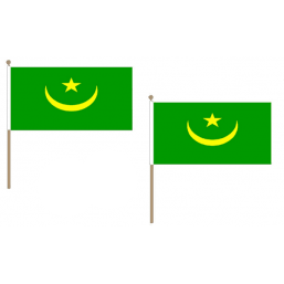 Mauritania Fabric National Hand Waving Flag