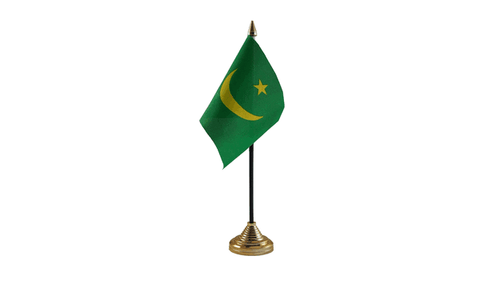 Mauritania Table Flag Flags - United Flags And Flagstaffs