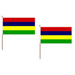Mauritius Fabric National Hand Waving Flag