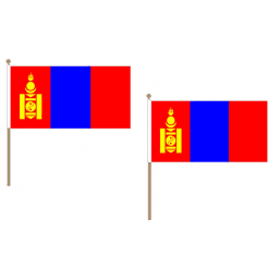 Mongolia Fabric National Hand Waving Flag Flags - United Flags And Flagstaffs