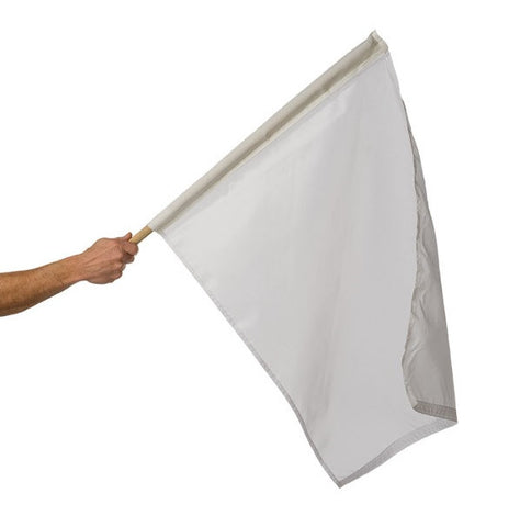 Motor Racing Flags - White