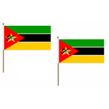 Mozambique Fabric National Hand Waving Flag Flags - United Flags And Flagstaffs