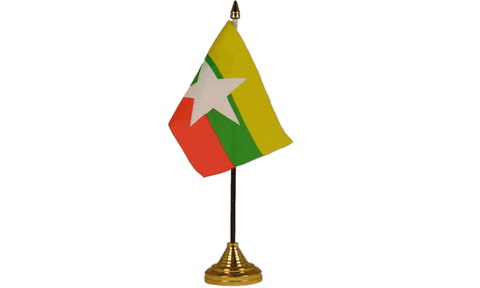 Myanmar Table Flag Flags - United Flags And Flagstaffs