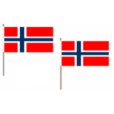 Norway Fabric National Hand Waving Flag Flags - United Flags And Flagstaffs