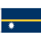 Nauru National Flag - Budget 5 x 3 feet Flags - United Flags And Flagstaffs