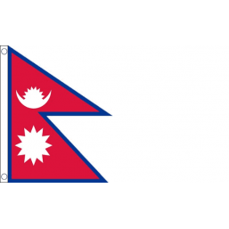 Nepal National Flag - Budget 5 x 3 feet
