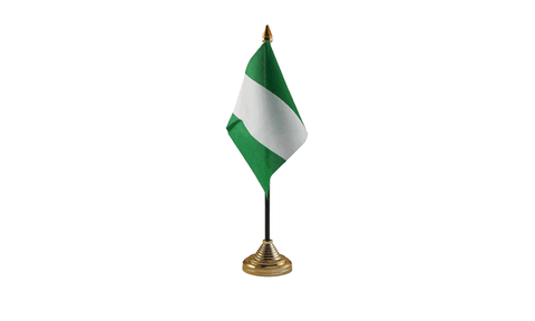 Nigeria Table Flag Flags - United Flags And Flagstaffs