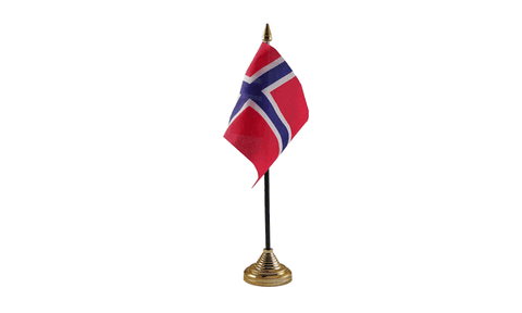 Norway Table Flag Flags - United Flags And Flagstaffs