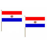 Paraguay Fabric National Hand Waving Flag