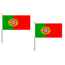 Portugal Fabric National Hand Waving Flag Flags - United Flags And Flagstaffs