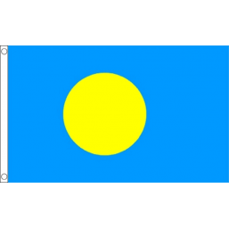 Palau National Flag - Budget 5 x 3 feet Flags - United Flags And Flagstaffs