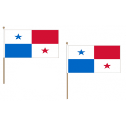 Panama Fabric National Hand Waving Flag