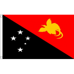 Papua New Guinea National Flag - Budget 5 x 3 feet Flags - United Flags And Flagstaffs
