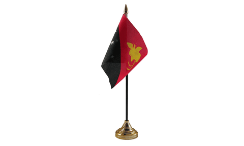 Papua New Guniea Table Flag Flags - United Flags And Flagstaffs