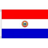 Paraguay National Flag - Budget 5 x 3 feet Flags - United Flags And Flagstaffs