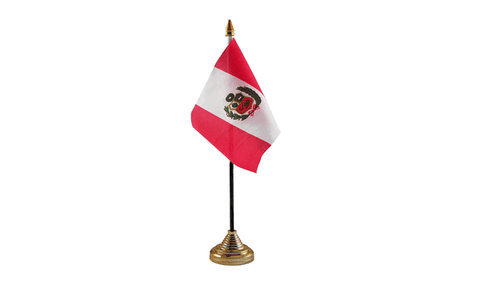 Peru Table Flag Flags - United Flags And Flagstaffs