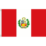 Peru National Flag - Budget 5 x 3 feet Flags - United Flags And Flagstaffs
