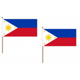 Philippines Fabric National Hand Waving Flag Flags - United Flags And Flagstaffs