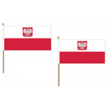 Poland (State) Fabric National Hand Waving Flag Flags - United Flags And Flagstaffs
