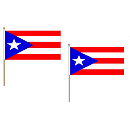 Puerto Rico Fabric National Hand Waving Flag Flags - United Flags And Flagstaffs