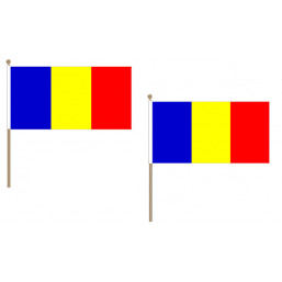 Romania Fabric National Hand Waving Flag Flags - United Flags And Flagstaffs