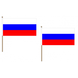 Russia Fabric National Hand Waving Flag Flags - United Flags And Flagstaffs