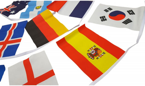 Giant World Cup Bunting 2018 - Rectangular 12 x 18 Inch Flags