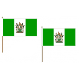 Rhodesia Fabric National Hand Waving Flag Flags - United Flags And Flagstaffs