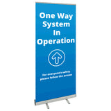 COVID SECURE ROLL UP BANNER -ONE WAY