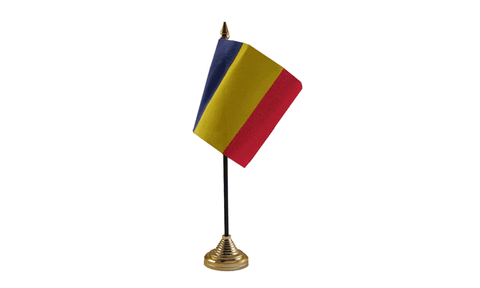 Romania Table Flag